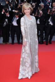 Jane Fonda in Valentino al Cannes film Festival