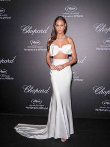 Joan Smalls in Miu Miu al Secret Chopard party, Cannes