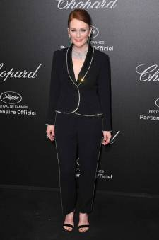 Julianne Moore in Sonia Rykiel al Secret Chopard party, Cannes