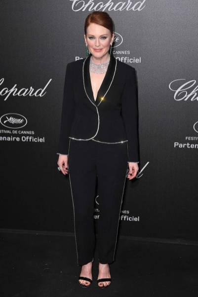 Julianne Moore in Sonia Rykiel al Secret Chopard party, Cannes