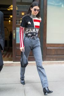 Kendall Jenner in Jean Paul Gaultier, New York.