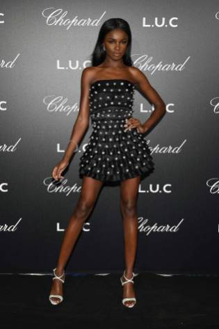 Leomie Anderson al Chopard Gentleman's Night, Cannes Film Festival