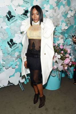 Naomie Campbell al Tiffany & Co Paper Flowers Event And Believe In Dreams Campaign Launch, New York