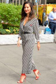 Olivia Munn in Fendi, New York.