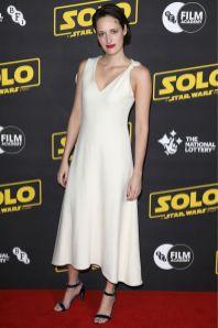 Phoebe Waller-Bridge con sandali Rupert Sanderson al 'Solo A Star Wars Story' BFI screening, London