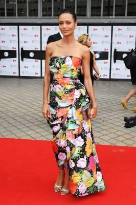 Thandie Newton in Richard Quinn ai British Academy Television Awards, London