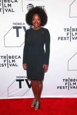 Viola Davis in Pamella Roland al 'The Last Defense' screening at Tribeca film Festival, New York