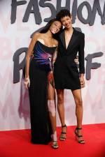 Winnie Harlow in Roberto Cavalli e Dilone in Stella McCartney al Fashion For Relief Gala, Cannes Film Festival