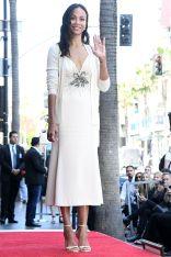 Zoe Saldana alla sua Hollywood Walk of Fame