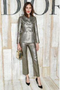Alexa Chung in Dior alla sfilata Dior Cruise, Chantilly