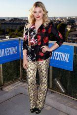 Chloe Grace Moretz in Prada agli Champs Elysees Film Festival, Paris.