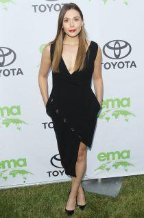 Elizabeth Olsen in Altuzarra all'Environmental Media Association gala