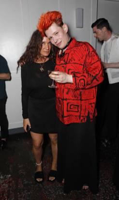 Lulu Kennedy e Eden Loweth al Fashion East and Bistrotheque LFWM dinner, London