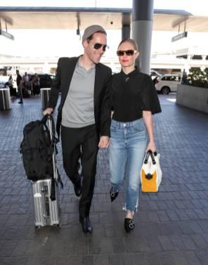 Michael Polish e Kate Bosworth al LAX airport, Los Angeles