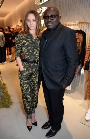 Stella McCartney ed Edward Enninful al Stella McCartney 23 Bond Street store opening, London