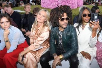 Victoria Beckham, Kate Moss, Lenny Kravitz e Naomi Campbell al Dior men's SS 2019 show, Paris