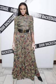 Winnie Harlow in Dior al Dior Backstage Collection Dinner, New York