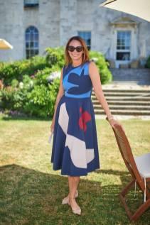 Caroline Rush in Roksanda al Cartier Style et Luxe at Goodwood Festival Of Speed