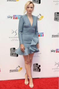 Emily Berrington con sandali René Caovilla ai South Bank Sky Arts Awards.