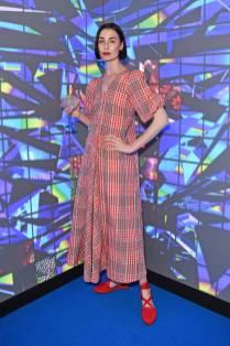 Erin O'Connor in Ganni al Bombay Sapphire 'Canvas' launch party, London