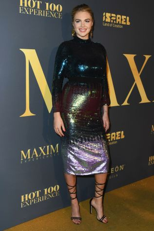 Kate Upton in Temperley London al Maxim Hot 100 party, Hollywood.