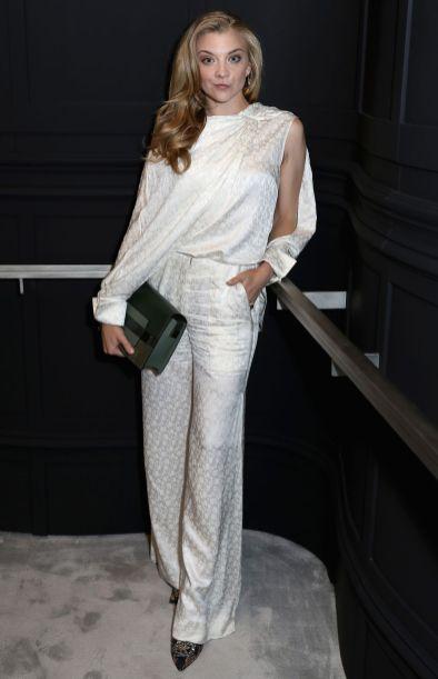 Natalie Dormer in Hellessy e pumps Rupert Sanderson al cocktail event to celebrate Delvaux's new Bond Street store, London