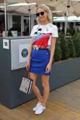 Poppy Delevingne in Ralph Lauren al Polo Ralph Lauren And British Vogue Wimbledon Day,London