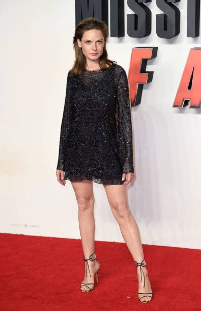 Rebecca Ferguson in Celia Kritharioti alla Mission Impossible - Fallout UK premiere