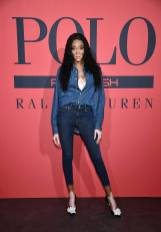 Winnie Harlow in Ralph Lauren Polo al Polo Red Rush launch party With Ansel Elgort, New York