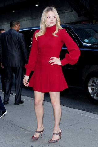 Chloe Grace Moretz al 'The Late Show with Stephen Colbert' show, New York