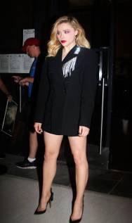 Chloe Grace Moretz in Christopher Kane, NY