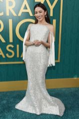 Constance Wu in Ralph & Russo e gioielli Lorraine Schwartz al Warner Bros. Pictures' 'Crazy Rich Asians' premiere, Hollywood