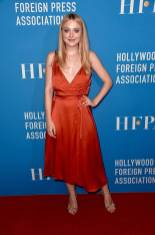 Dakota Fanning in Nina Ricci al Hollywood Foreign Press Association's grants banquet, Beverly Hills