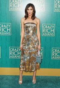 Gemma Chan in Oscar de la Renta al Warner Bros. Pictures' 'Crazy Rich Asians' premiere, Hollywood