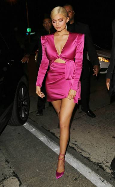 Kylie Jenner in Dundas al Kylie Jenner's 21st birthday party, Los Angeles