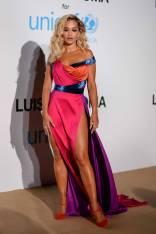 Rita Ora in Ralph & Russo all'Unicef Summer Gala, Sardinia