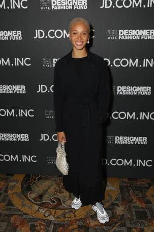 Adwoa Aboah al British Fashion Council and Vogue Designer Fashion Fund in partnership with JD.com, London