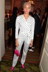 Adwoa Aboah in Saks Spotts al Victoria Beckham x British Vogue 10th anniversary party, London