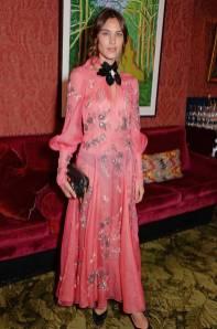 Alexa Chung in Erdem al Victoria Beckham x British Vogue 10th anniversary party, London