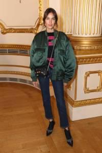 Alexa Chung in Katharine Hamnett al Simone Rocha SS19 show, London Fashion Week