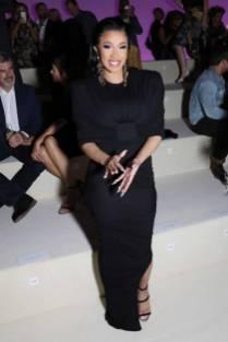 Cardi B in Tom Ford al Tom Ford Fashion Show, NY
