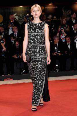 Clémence Poèsy in Chanel alla Venice Film Festival 2018