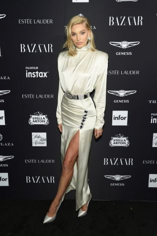 Elsa Hosk al Harper's Bazaar Icons party durante la New York Fashion Week