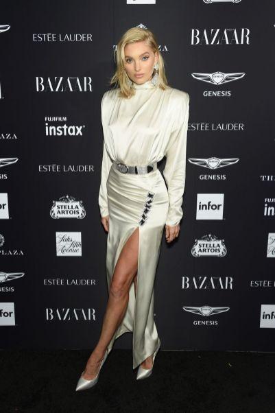 Elsa Hosk al Harper's Bazaar Icons party durante la New York Fashion Week