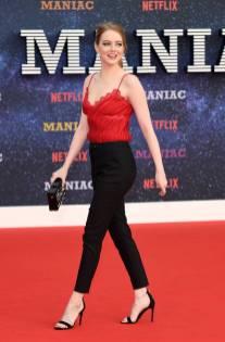 Emma Stone in Louis Vuitton alla Netflix world premiere of 'Maniac', London