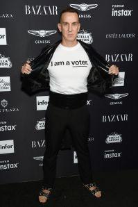 Jeremy Scott al Harper's Bazaar Icons party durante la New York Fashion Week