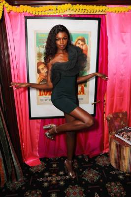 Leomie Anderson al LOVE 10th anniversary party, Loulou's London