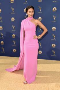 Thandie Newton in Brandon Maxwell agli Emmy Awards, California