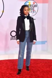Amandla Stenberg agli American Music Awards, Los Angeles