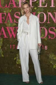 Amber Valletta in Agnona ai Green Carpet Fashion Awards, Milan Fashion Week